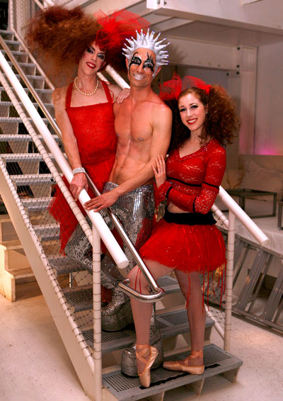 Matthew Simmons as Peggy the Peg-Leg Ballerina Director Paul Festa as Stringendo  Sylvie Volosov as The Ballerina in The Glitter Emergency
